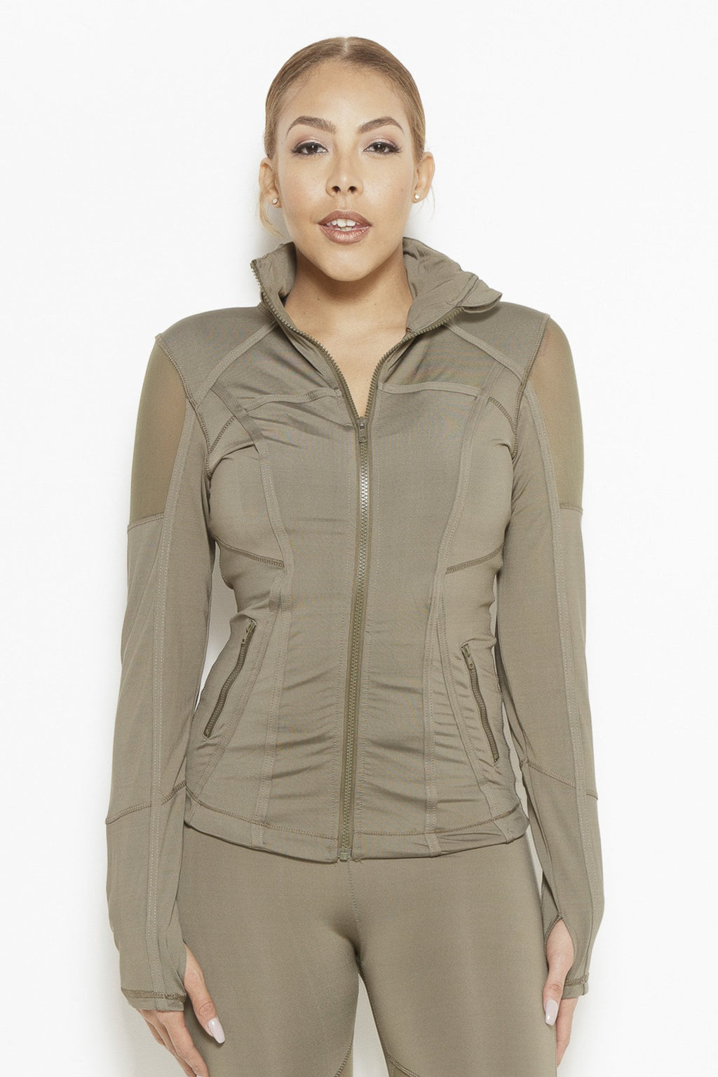 Vibes of Color Sports Jacket- Olive Green Clothing Fair Shade