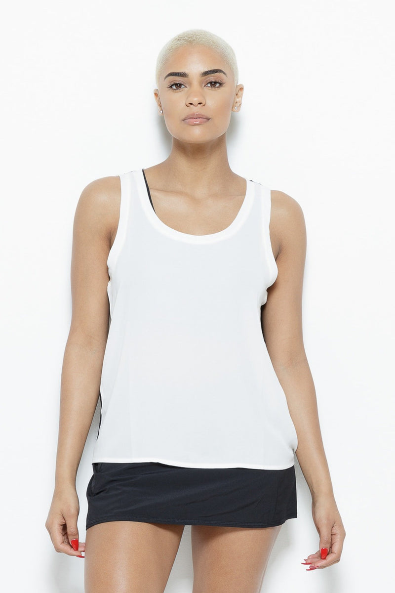 White Shadow Tank Top Clothing Fair Shade