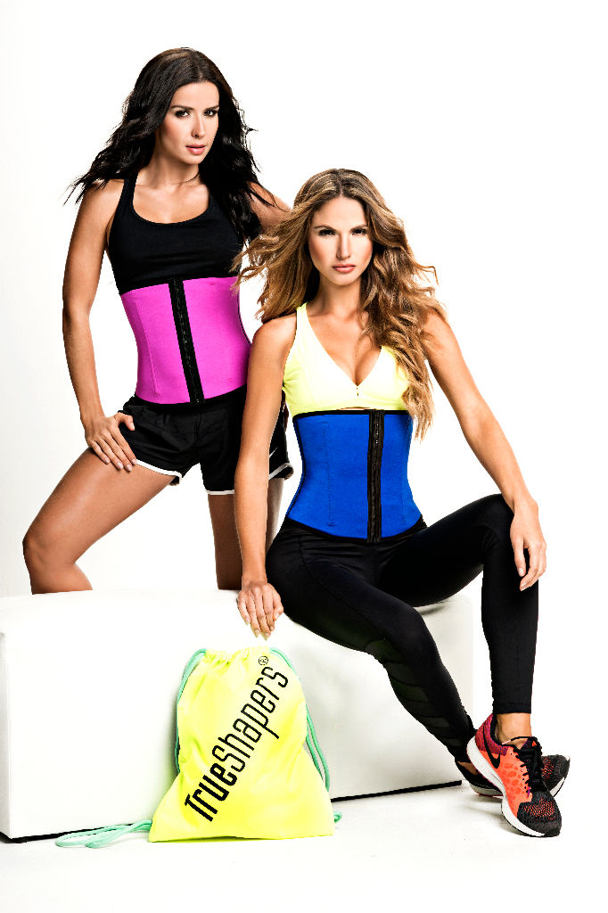 1063 Latex free Workout Waist Training Cincher Color Pink