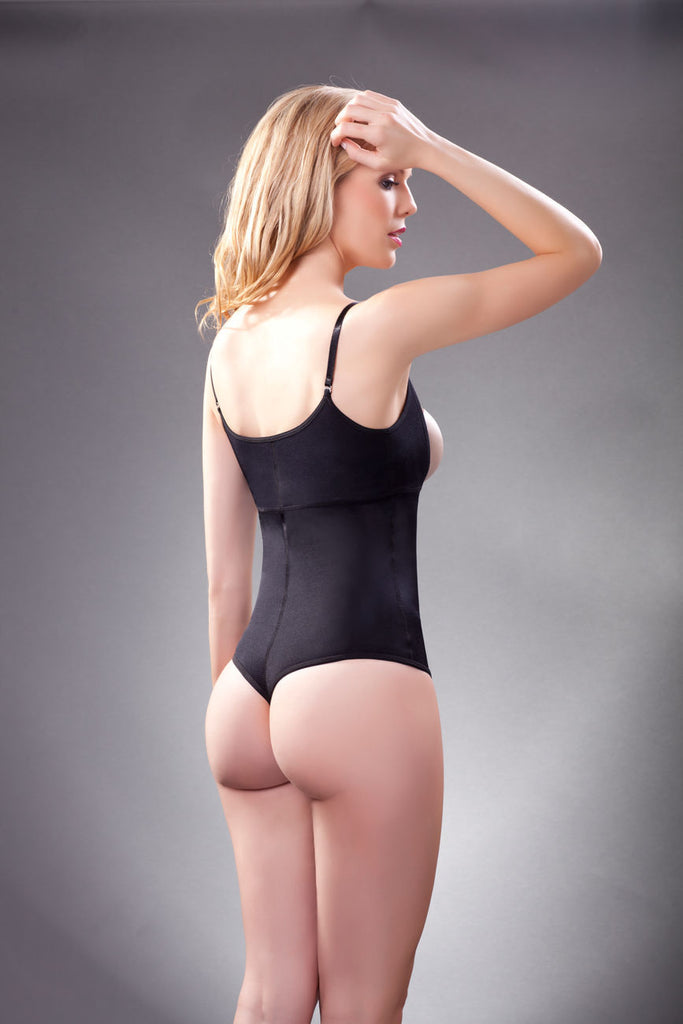 Vedette 111 Evonne Underbust Bodysuit in Thong Color Black