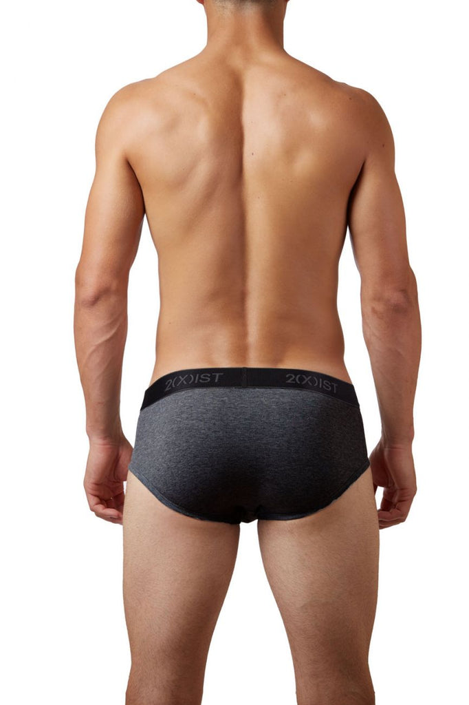 2(X)IST 3102030303 Cotton 3PK Contour Pouch Briefs Color 006NL-Black-Gray-Charco
