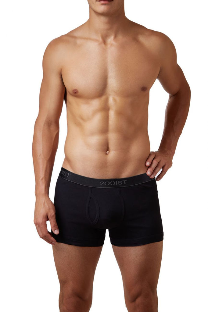 2(X)IST 3102030403 Cotton 3PK Boxer Briefs Color 006NL-Black-Gray-Charcoal