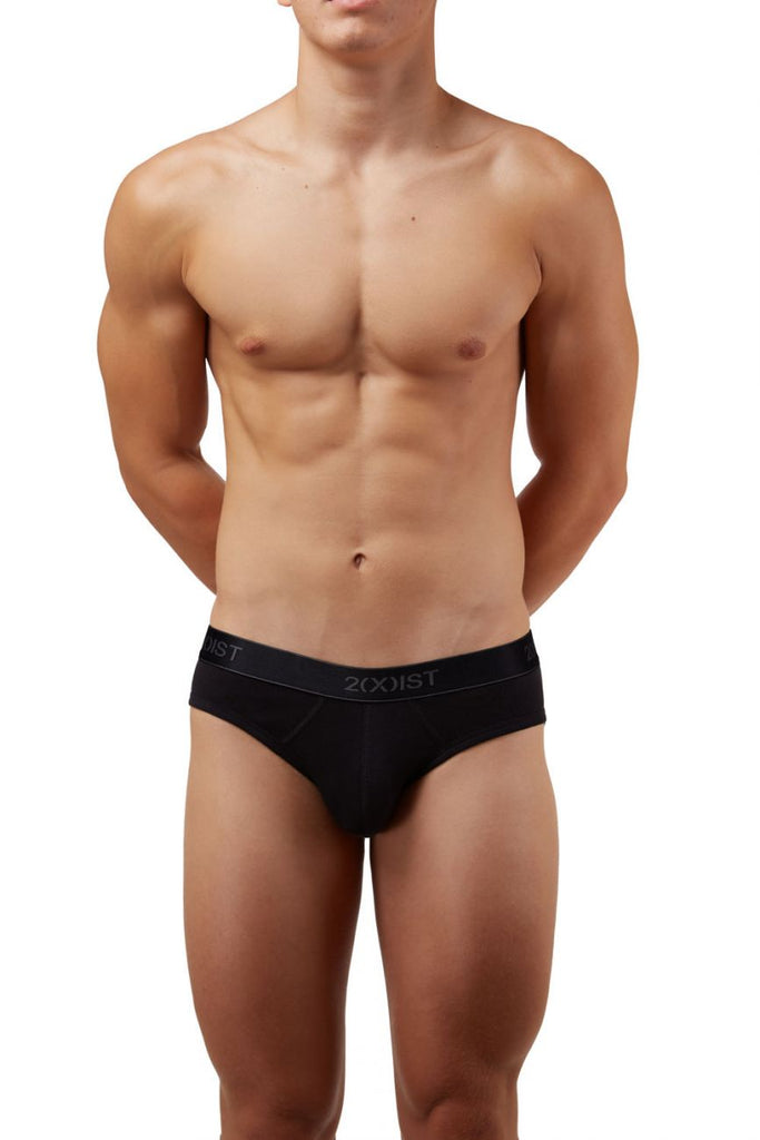 2(X)IST 3102032003 Cotton 3PK No-Show Briefs Color 004NL-Black