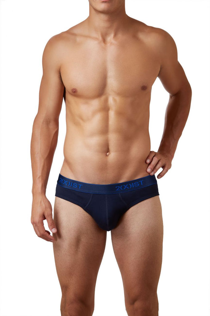 2(X)IST 3102032003 Cotton 3PK No-Show Briefs Color 420NL-Navy-Cobalt-Porcelain