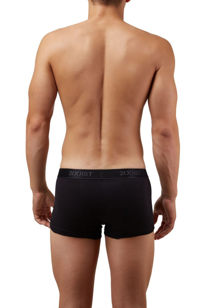 2(X)IST 3102033303 Cotton 3PK No-Show Trunks Color 004NL-Black