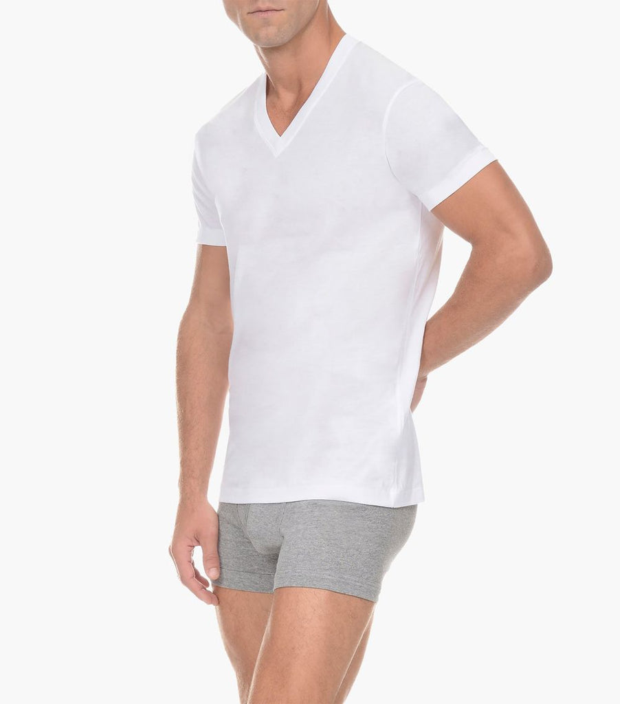 2(X)IST 3104101001 Pima Cotton V-Neck T-Shirt Color 10001-White