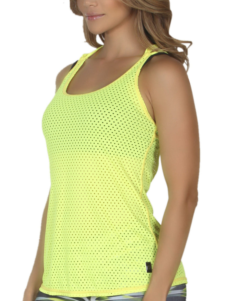 365me 1008 Sports Tank Top Color Yellow