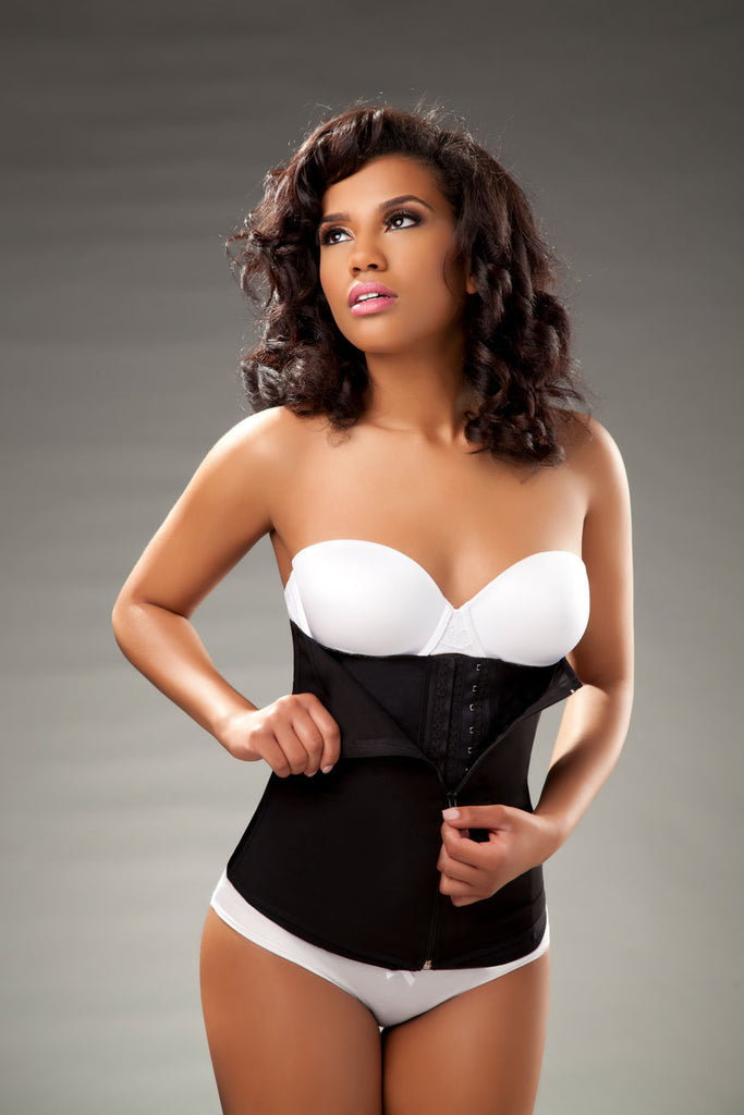 Vedette 403 Gigi Waist Cincher w/ Zipper Color Black