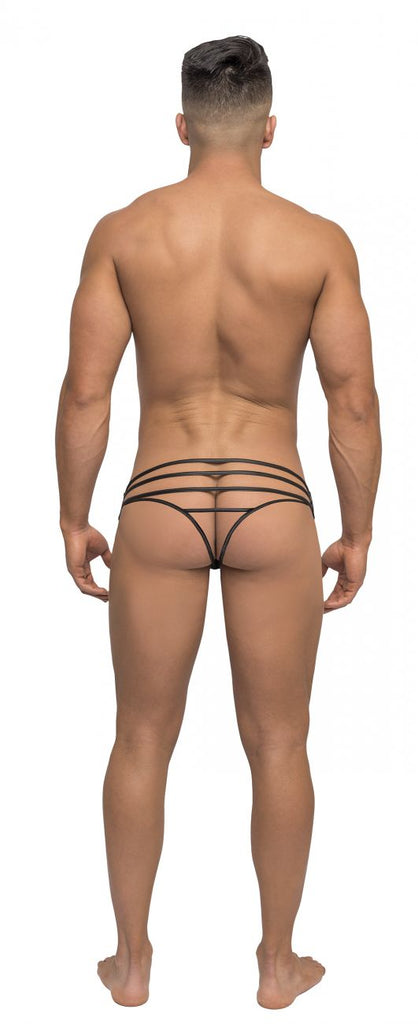 Male Power 419238 Strapped and Bound Strappy Thong Color Black