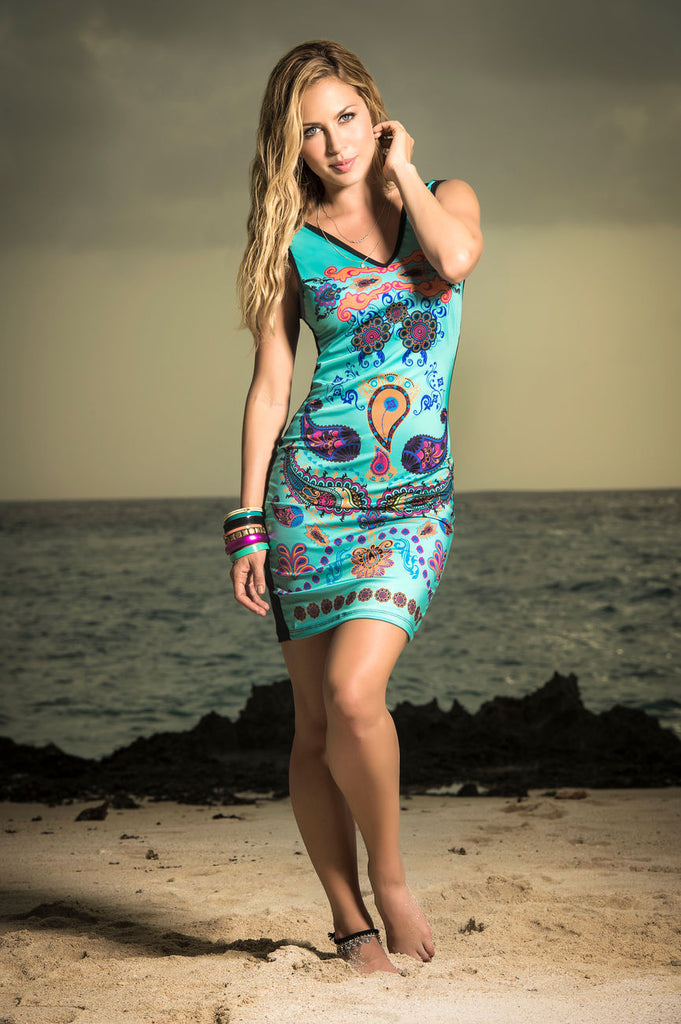 Mapale 4959 Dress Color Turquoise