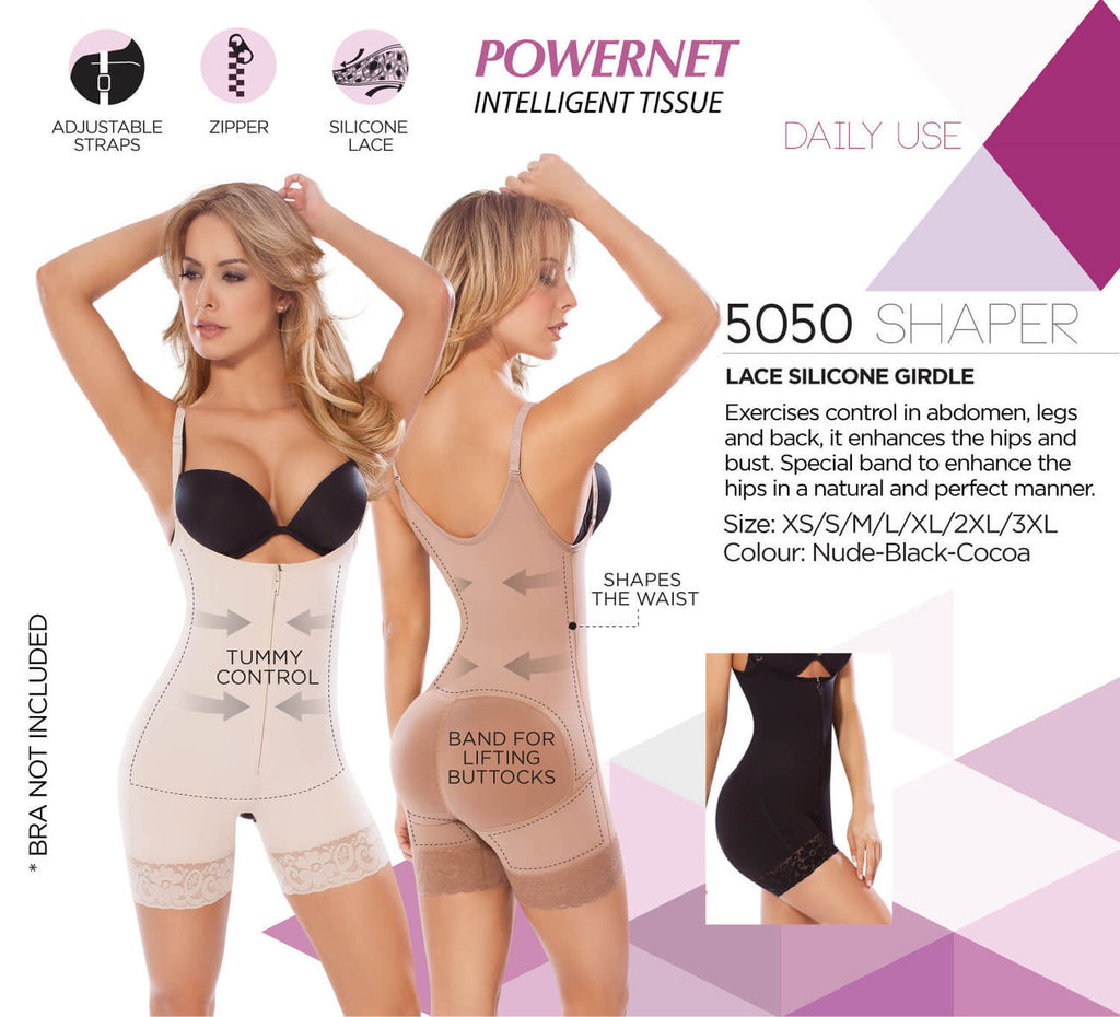 Moldeate 5050 Push UP and Tummy control Shapewear Color Black