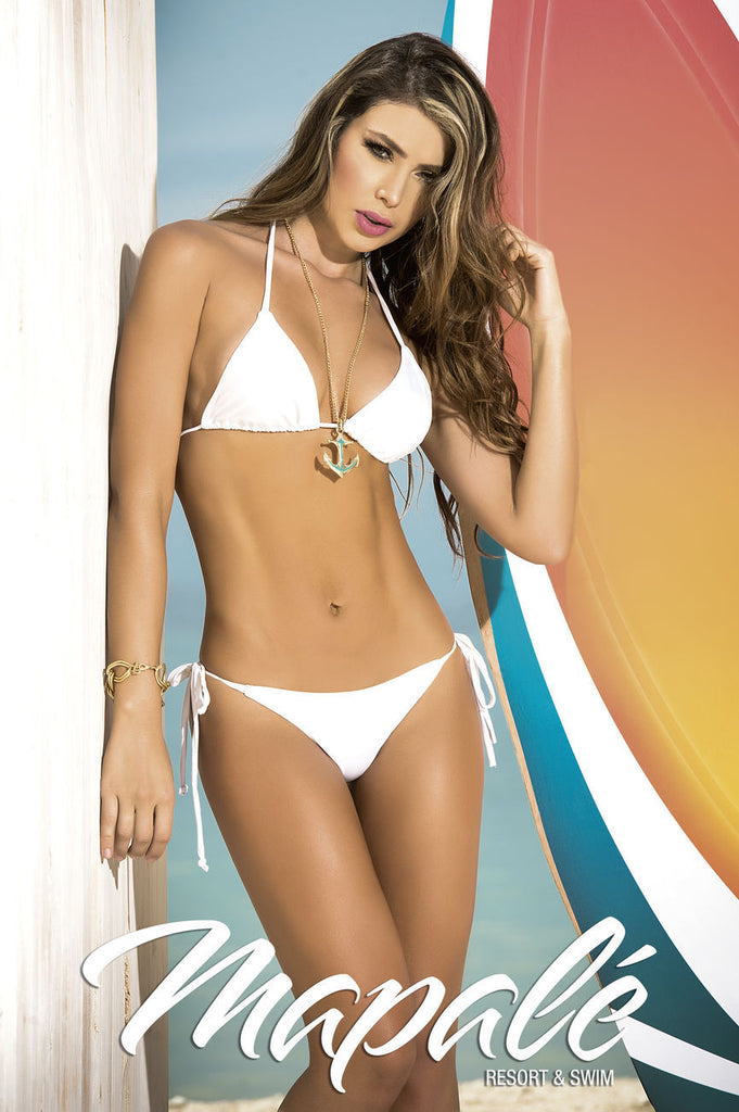 Mapale 6728 Two Piece Swimsuit Color White