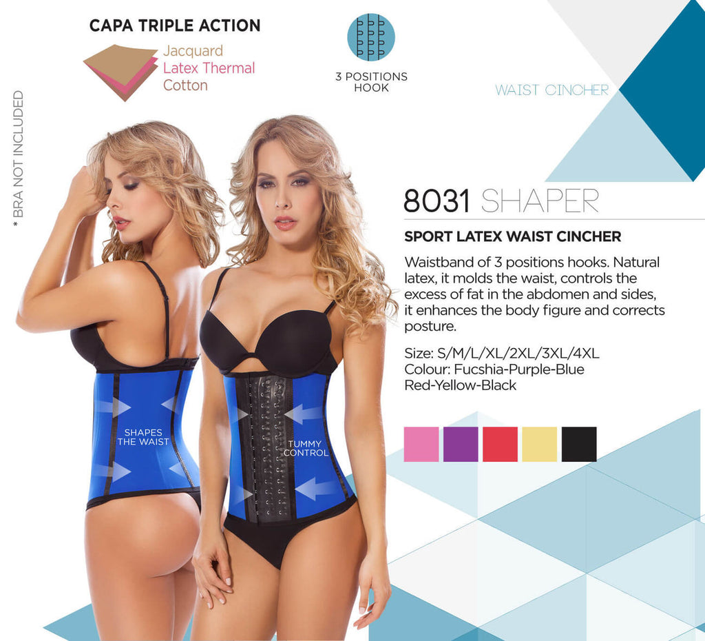 Moldeate 8031 Workout Waist Cincher Color Black