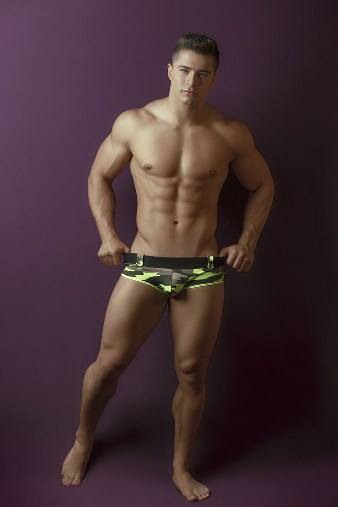 Pikante PIK 8706 Warfare Briefs Color Green