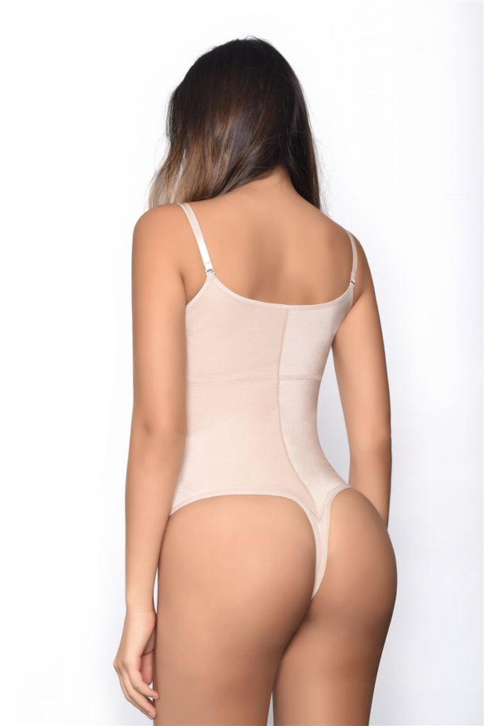 Vedette 903 Harriet Open Bust Front Closure Shaper in Thong Color Nude