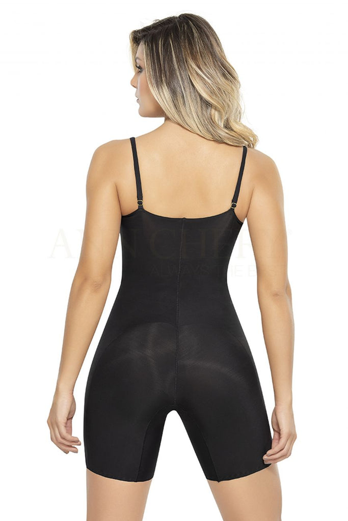 Ann Chery 1585 Mid-Thing Pre Shaped control Bodysuit Color Black Plus