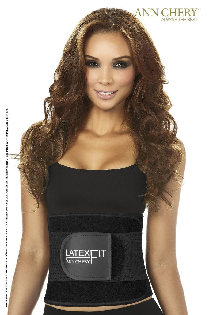 Ann Chery 2051 Latex Fit Waist Shaper Belt Color Black