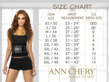 Ann Chery 2023 Latex Sport Workout Waist Cincher Corset Color Blue