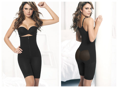 Ann Chery 1042 Powernet Body Shaper Kelly-Black-S