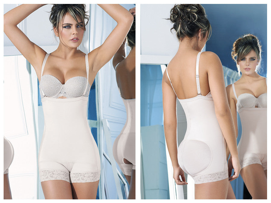 Ann Chery-4013 Latex Shirly Strapless Shapewear-Beige