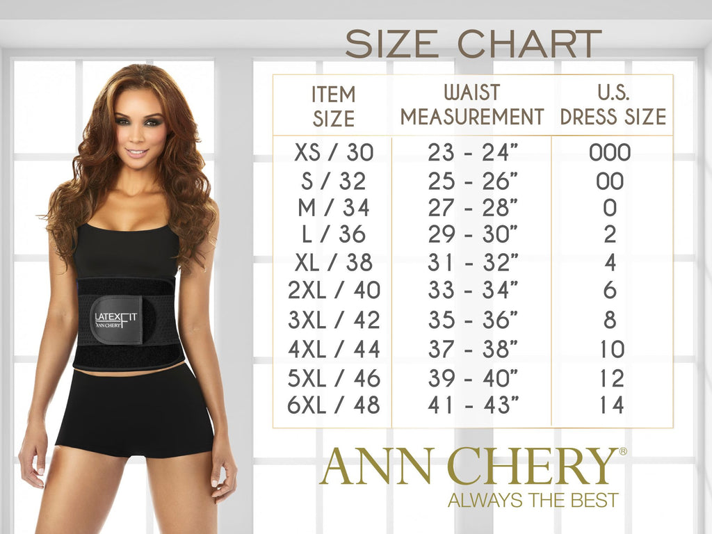 Ann Chery 1018 Powernet Body Shaper-Black-XS