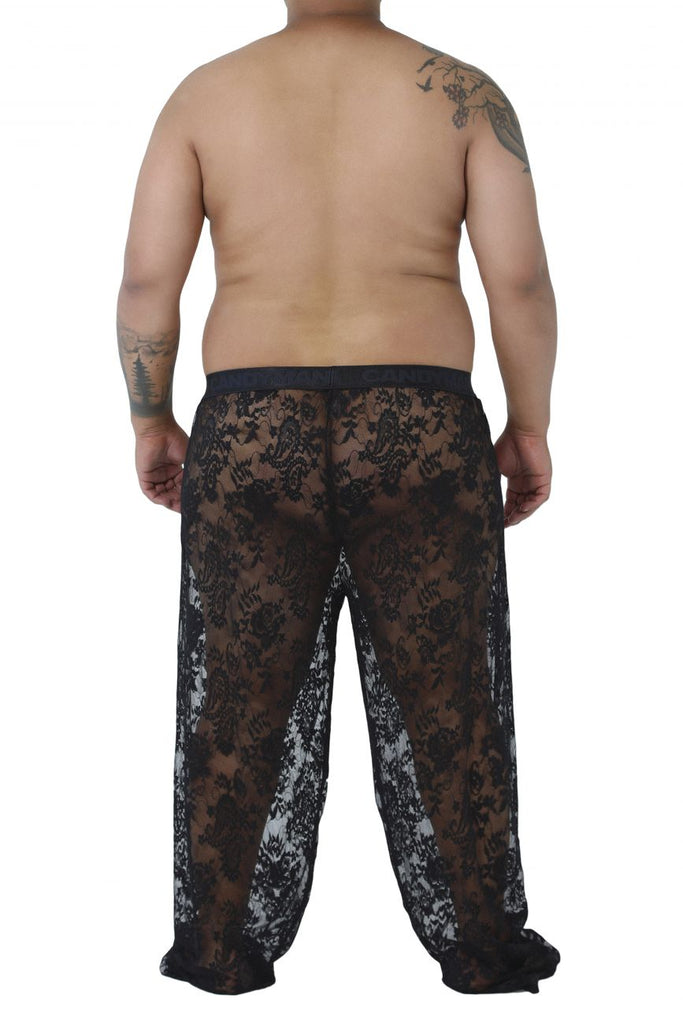 CandyMan 99234X Lace Lounge Pants Color Black