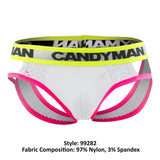 CandyMan 99282 Hard Candy Jockstrap Color White