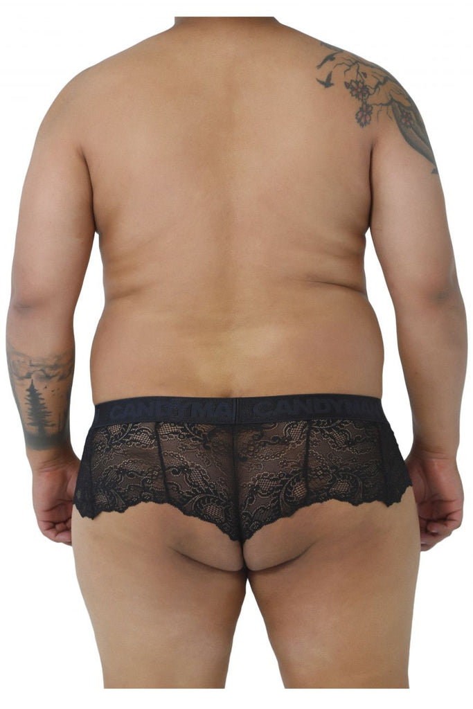 CandyMan 99304X Lace Thongs Color Black