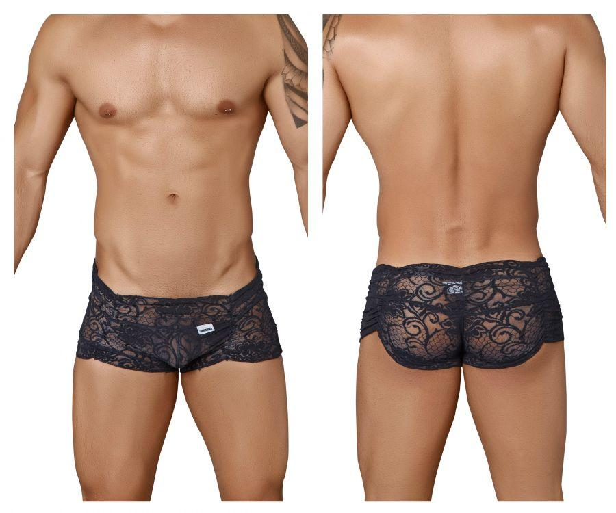 99320 Lace Boxer Briefs Color Black