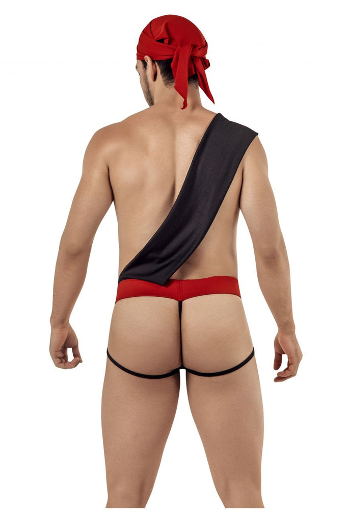 CandyMan 99425 Pirate Costume outfit Thongs Color Black