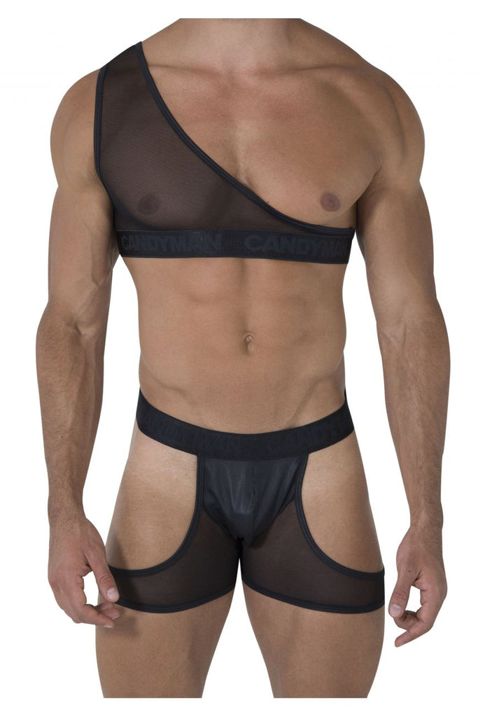 CandyMan 99474 Louge Bodysuit Color Black
