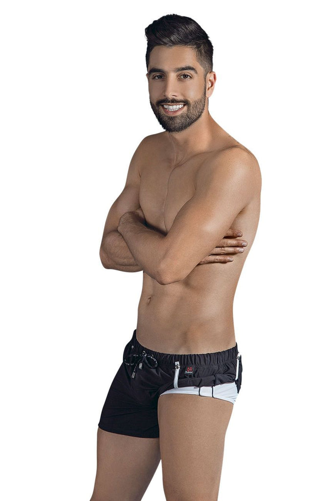 Clever 0631 Double Style Swim Trunks Color Black