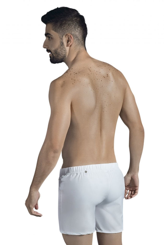 Clever 0631 Double Style Swim Trunks Color White