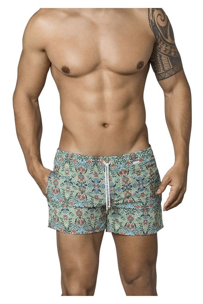 Clever 0663 Ivy Athlete Swim Trunks Color Green