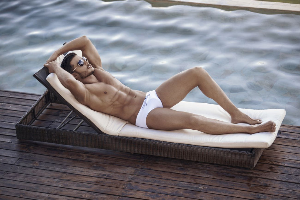 Clever 0706 Cingales Swim Briefs Color White