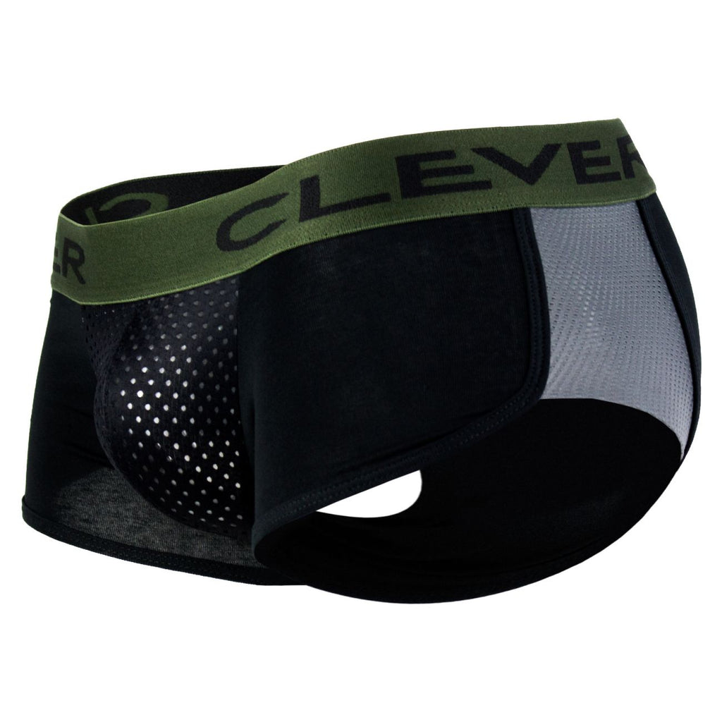 Clever 2360 Pleasure Cheeky Boxer Briefs Color Black