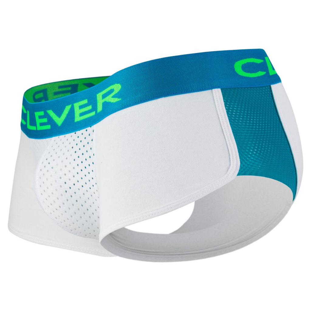Clever 2360 Pleasure Cheeky Boxer Briefs Color White