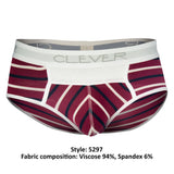 Clever 5297 Wine Briefs Color Red