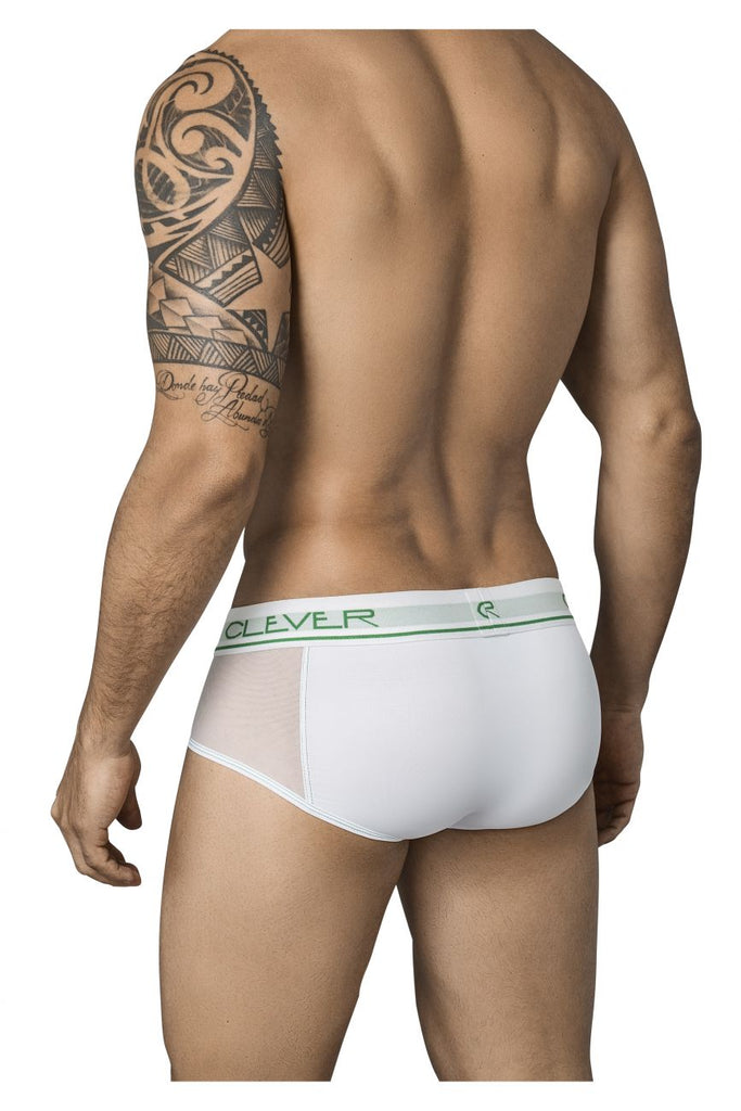 Clever 5353 Radical Piping Briefs Color White