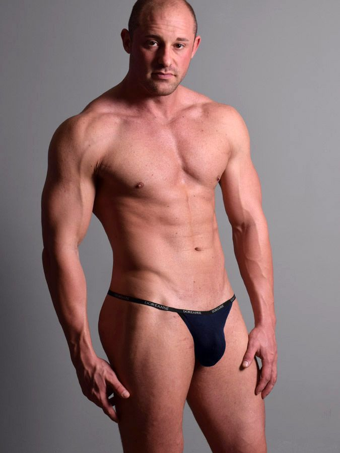 Doreanse 1330-NVY Ribbed Modal T-thong Color Navy