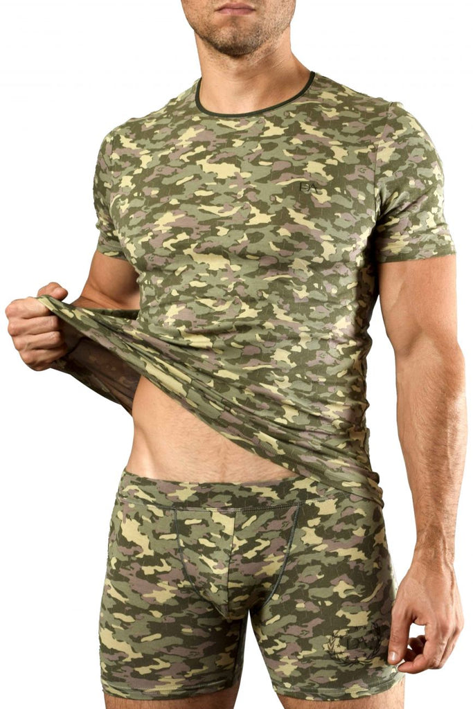 Doreanse 2560-PRN Camouflage T-Shirt Color Green