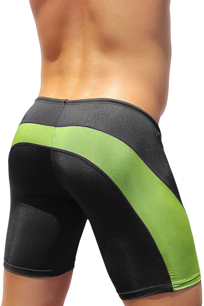 ErgoWear EW0411 FEEL Swim Trunk Color Black-Lime