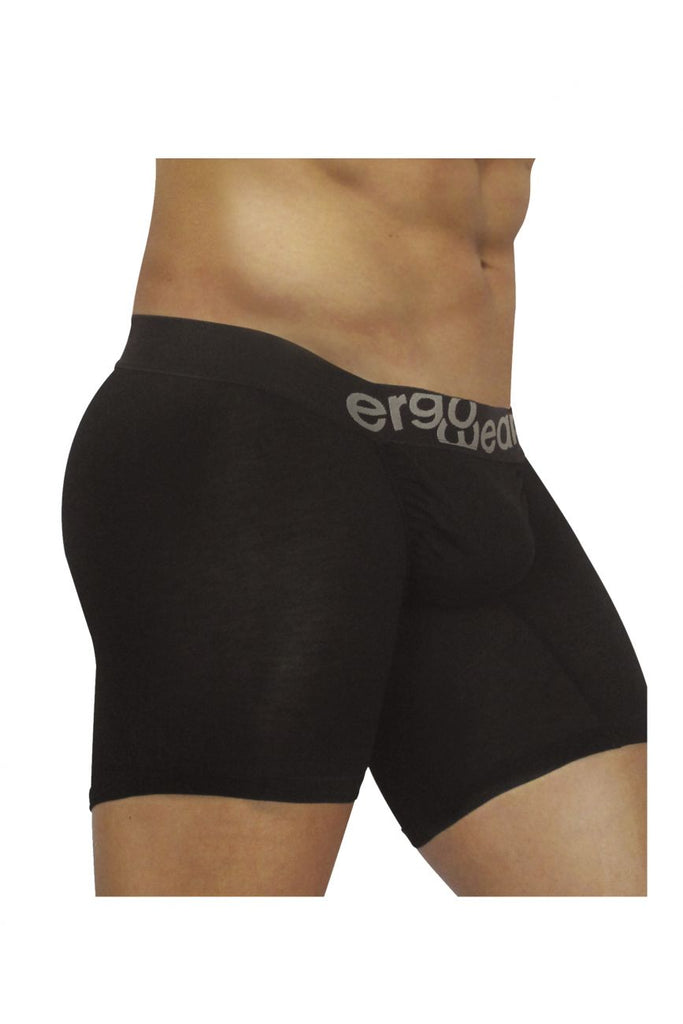 ErgoWear EW0711 FEEL Modal Long Boxer Briefs Color Black