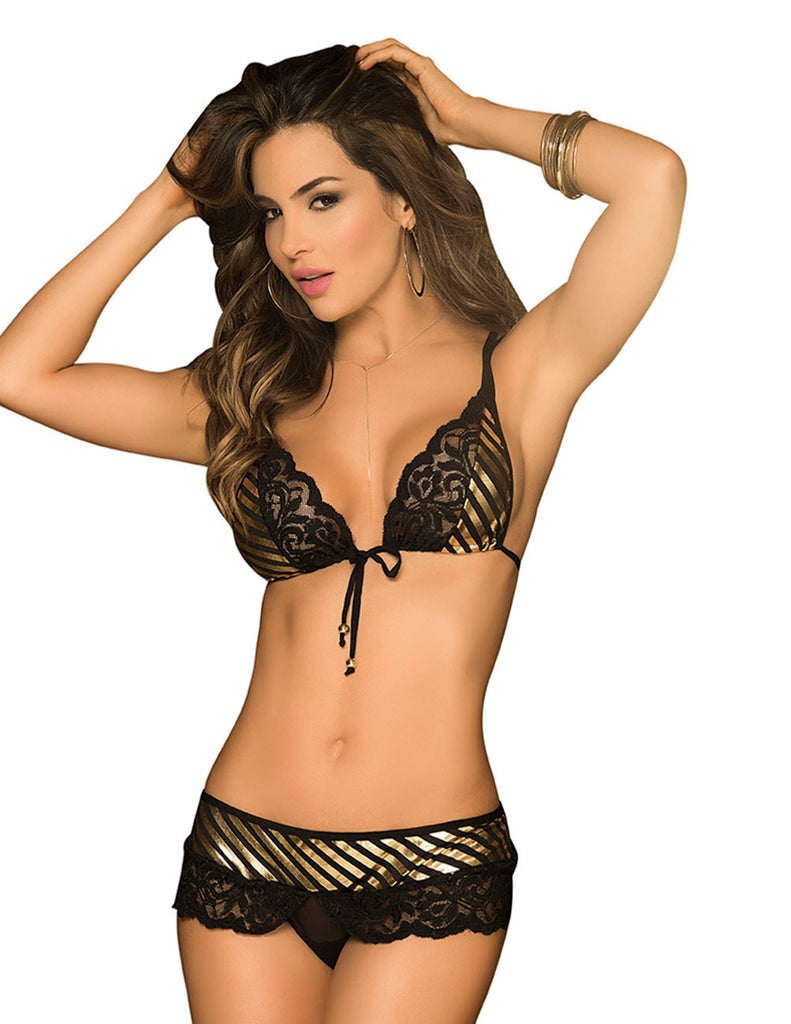 Espiral 8197 Three Piece Set Color Black-Gold