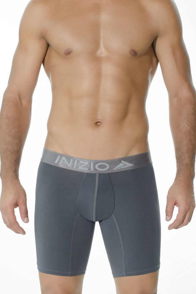 INIZIO 27706 Microfiber Long Boxer Briefs Color Gray