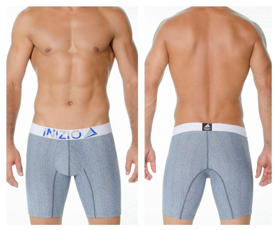INIZIO 29876 Microfiber Perseo Boxer Briefs Color Blue