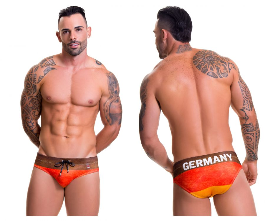 JOR 0583 Germany Swim Briefs Color Printed