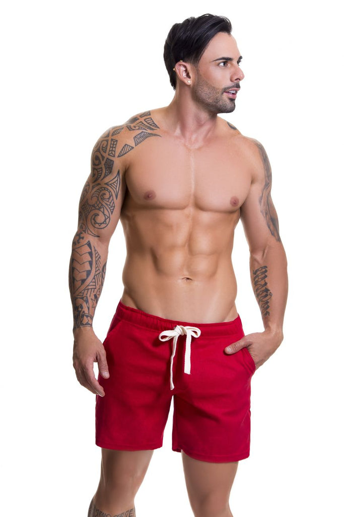 JOR 0598 Copacabana Athletic Shorts Color Red