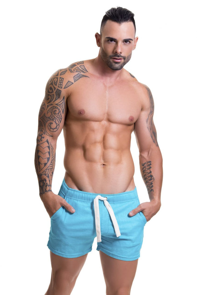 JOR 0599 Copacabana Athletic Shorts Color Turquoise