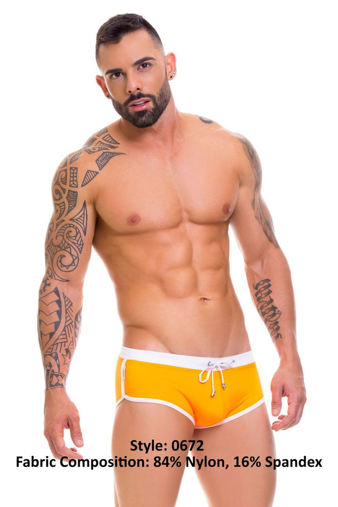 JOR 0672 Dali Swim Trunks Color Orange